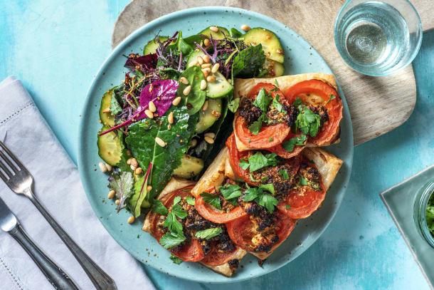 Schnelle Gerichte - Tartelettes mit Tomate und Hirtenkäse