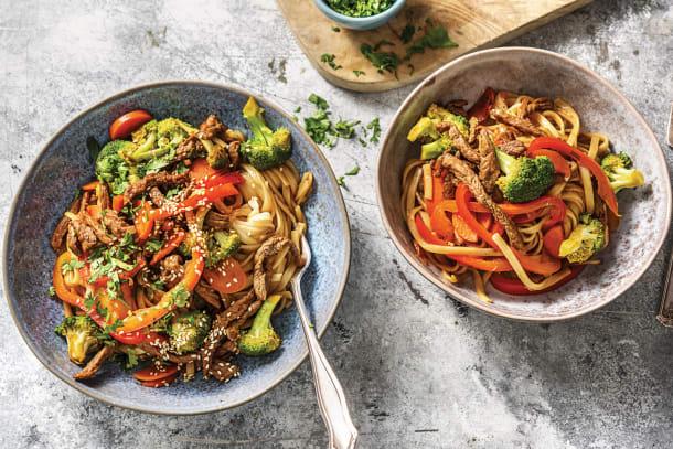Teriyaki Beef & Noodle Stir-Fry