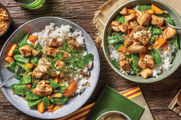 Teriyaki Chicken & Garlic Rice Bowl