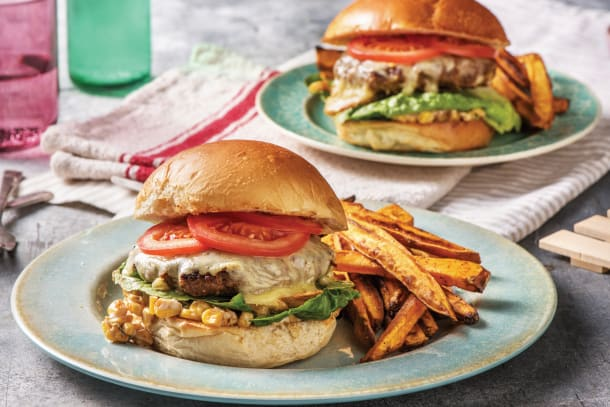 Tex-Mex Cheesy Beef Burger