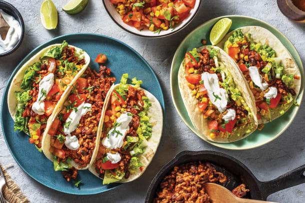 Tex-Mex Pork & Bean Tacos