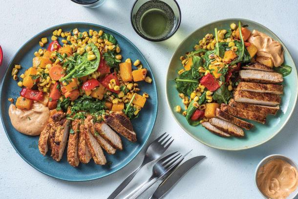Low Calorie Meals - Tex-Mex Spiced Pork Steaks