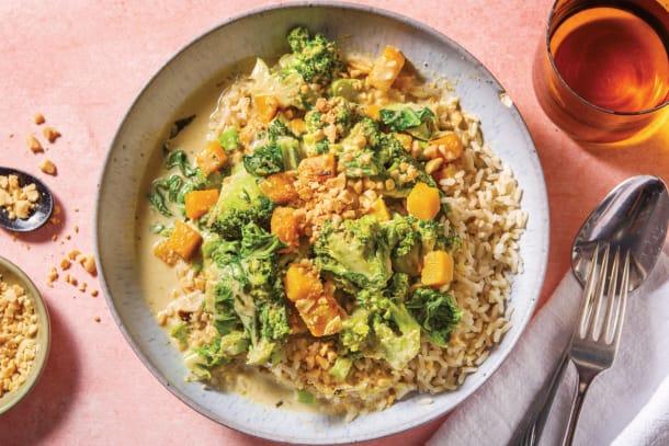 Thai Green Pumpkin & Broccoli Curry