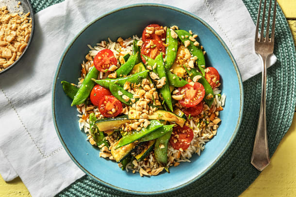 Thai Veggie Rice Bowl