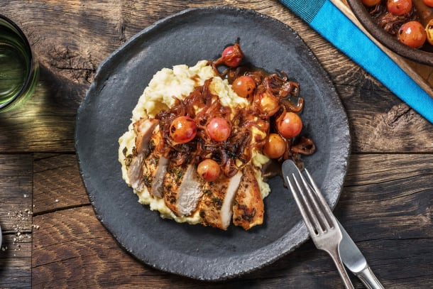 Thyme Chicken Roasted Grapes