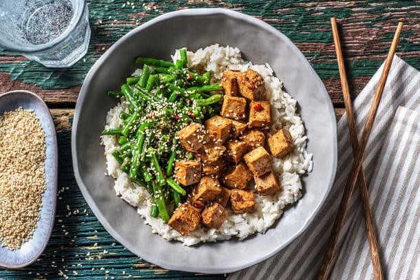 Tofu in soja-honingmarinade