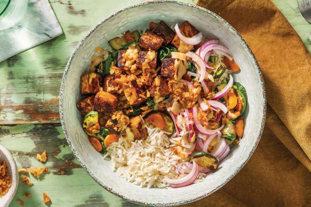 Vegetarian Recipes - Tofu & Veggie Poke Bowl