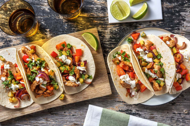 Turkey and Veggies Tacos 'Al Pastor'