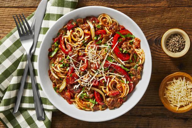 Hall Of Fame - Tuscan Sausage and Pepper Spaghetti