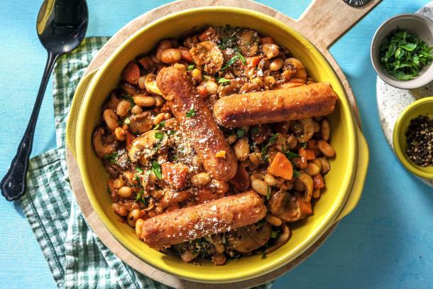 Vegetarian Sausage Cassoulet