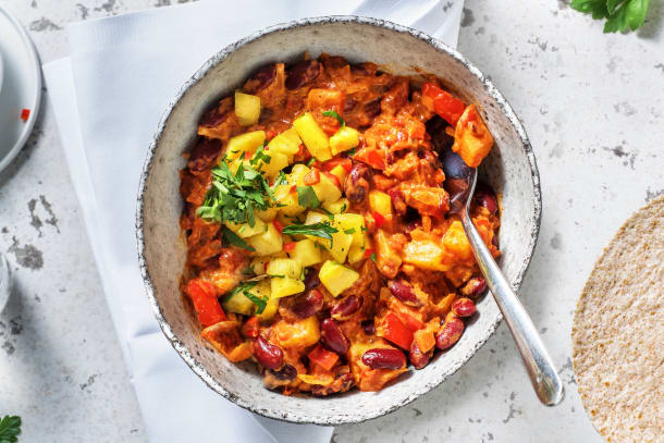 Caloriearme recepten - Vegetarische chili