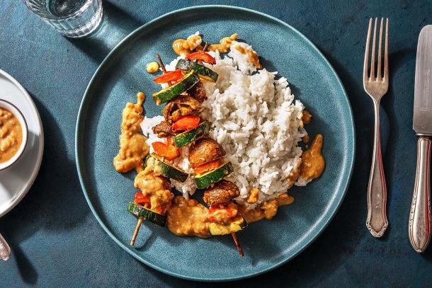 Schnelle Gerichte - Vegane Gemüsespieße