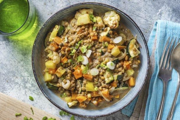 Gesunde Gerichte - Vegetarisches Massaman-Curry