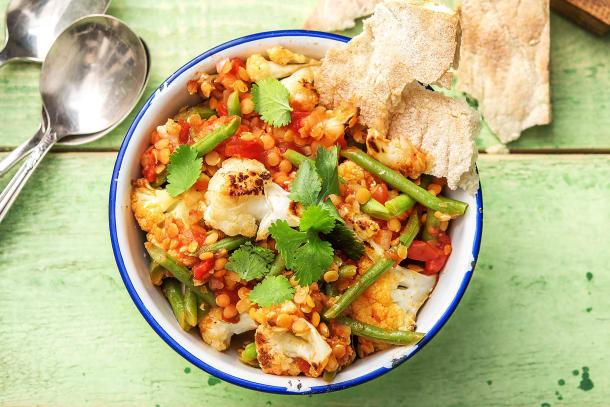 Warming Cauliflower and Lentil Dal