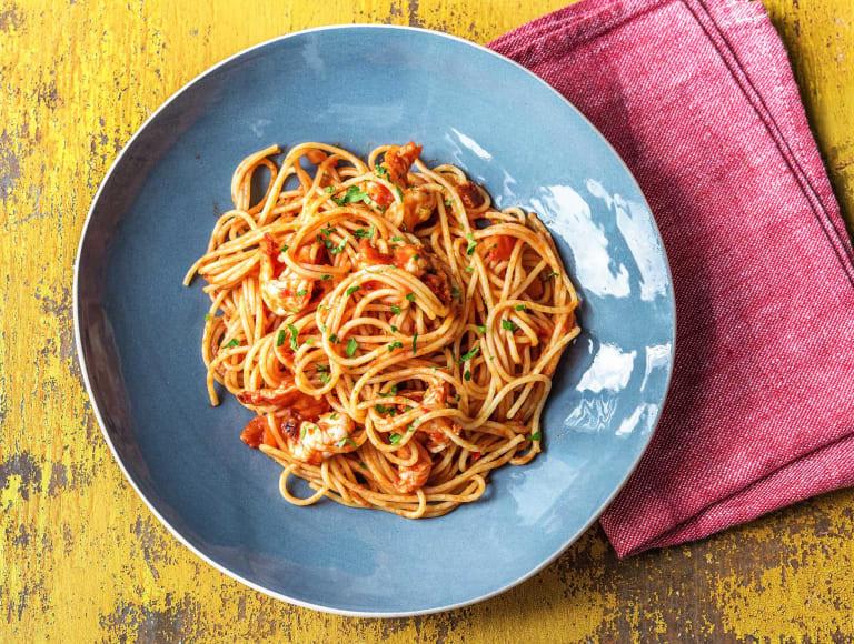 Chilli King Prawn Spaghetti