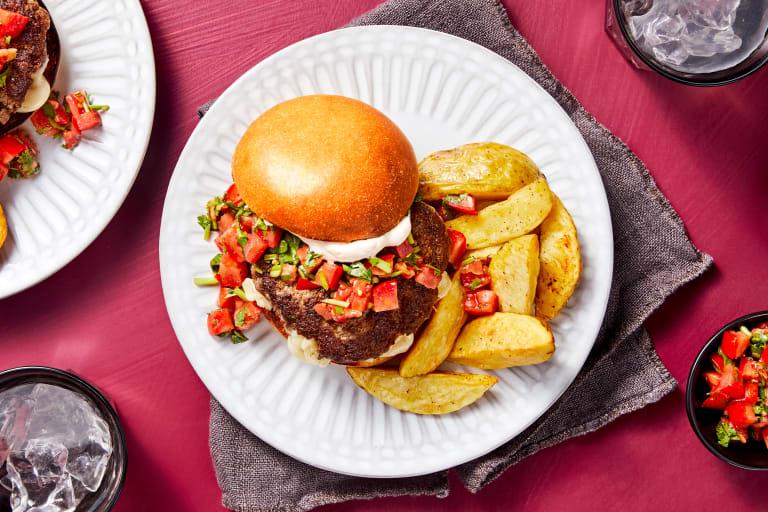Tex-Mex Cheese-Stuffed Burgers
