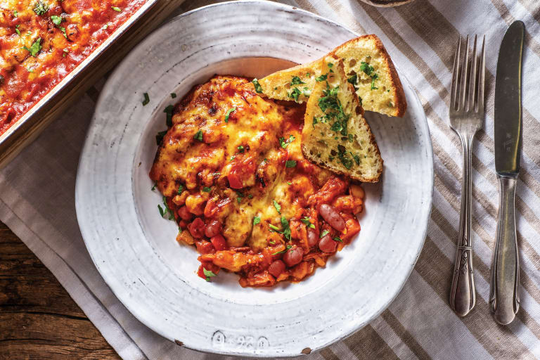 Cheesy BBQ Baked Beans