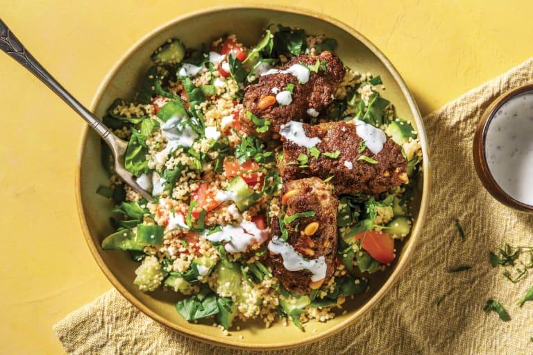 Beef Koftas & Couscous Tabbouleh