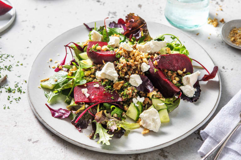 Beets, Lentil & Goat's Cheese Salad