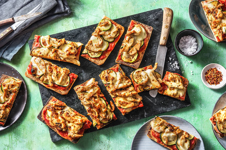 Hot 'N' Hearty Chicken Pizzas