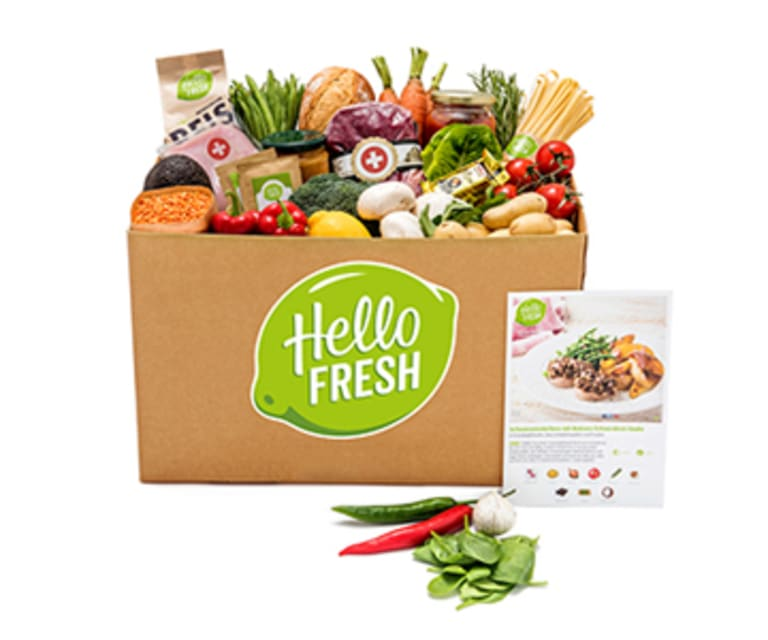 HelloFresh Express / Explore Kochbox für 4 Personen