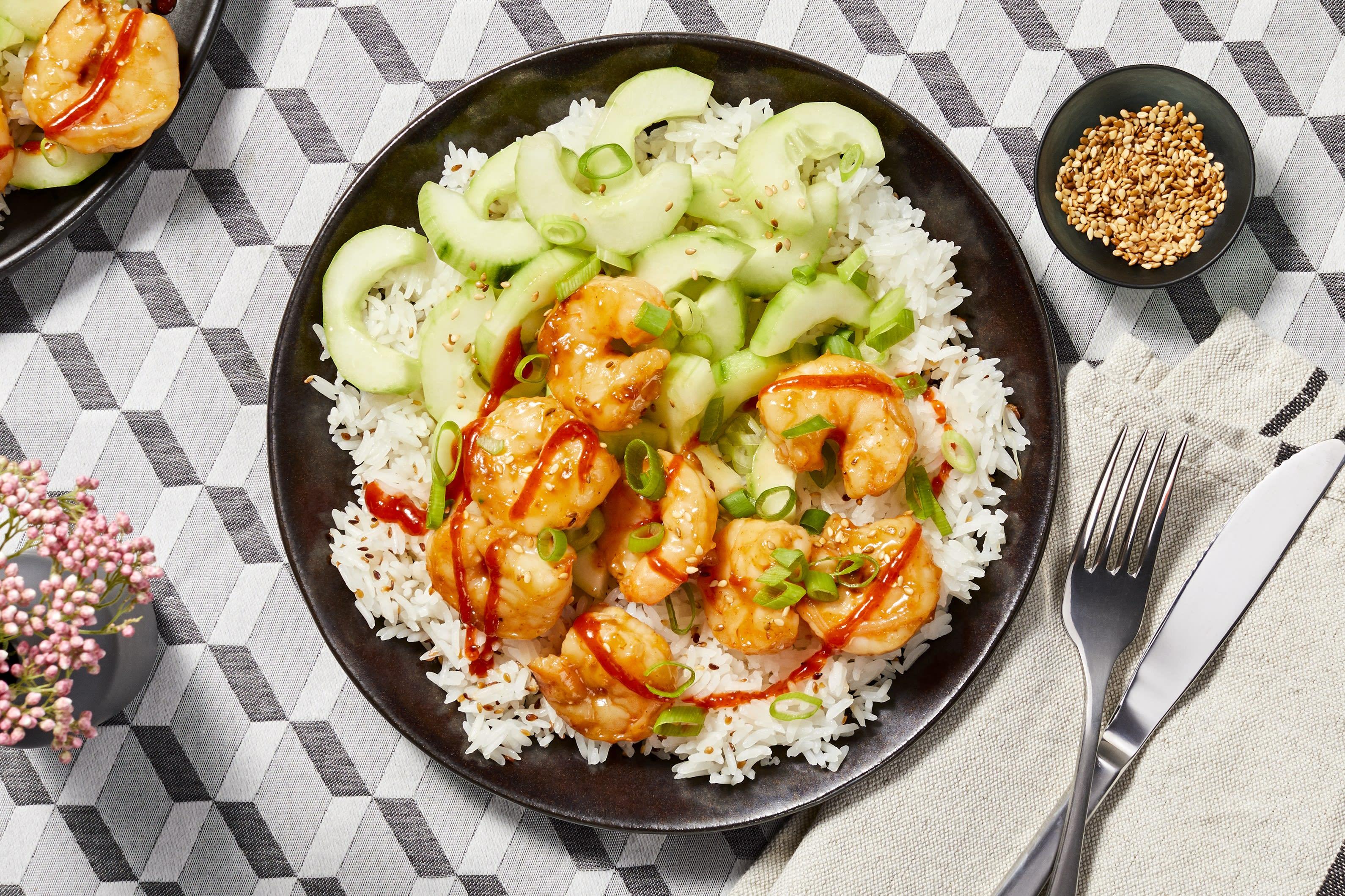 Sriracha Sesame Shrimp
