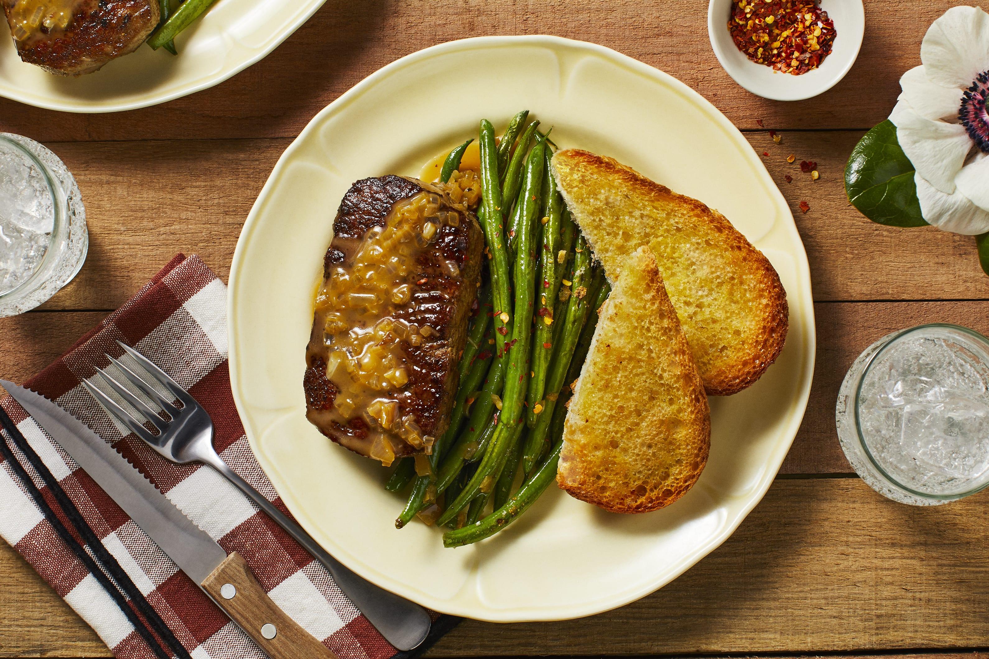 Steak with Shallot Pan Sauce