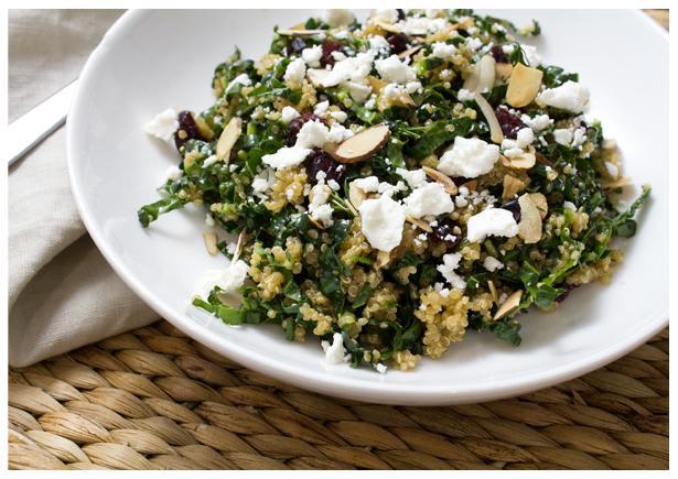 Marinated Kale and Quinoa Salad