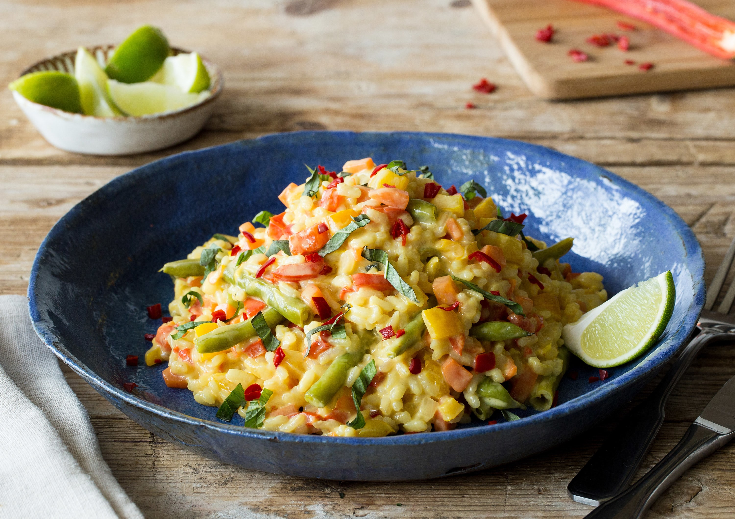 Italien meets Thailand: Gelbes Curry-Risotto