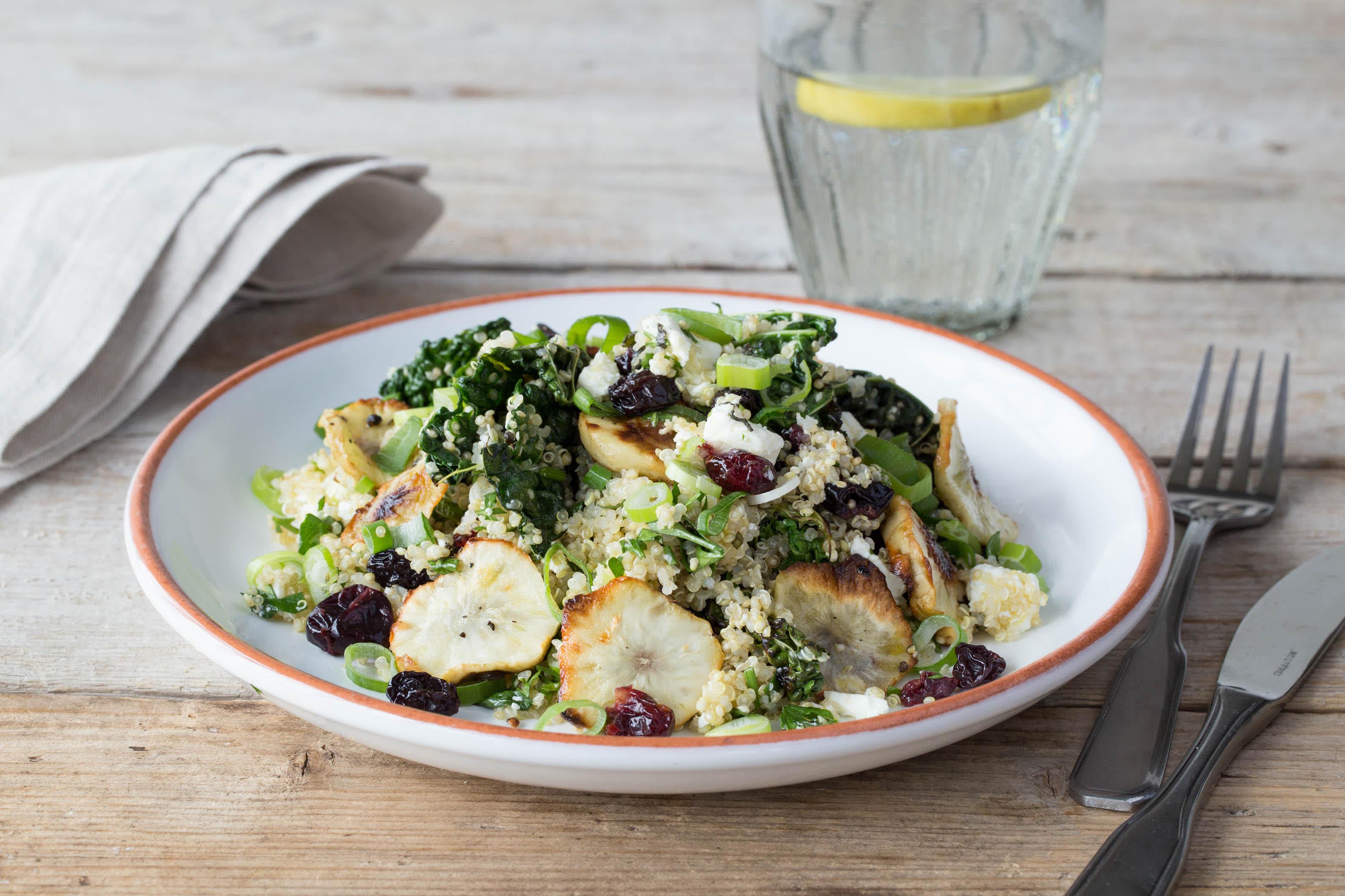Crispy Sunchoke & Quinoa Salad