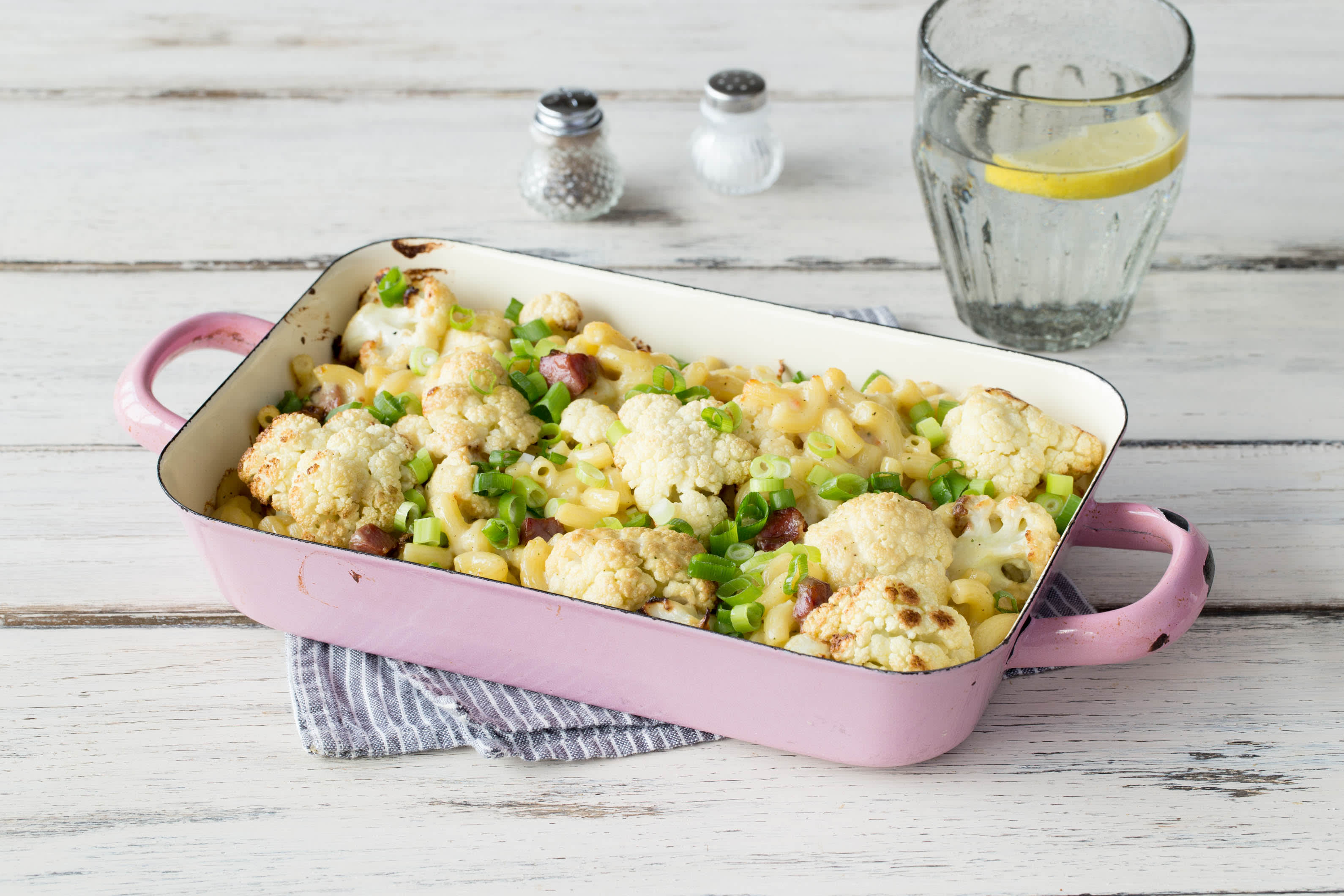 Cauliflower Pancetta Mac & Cheese