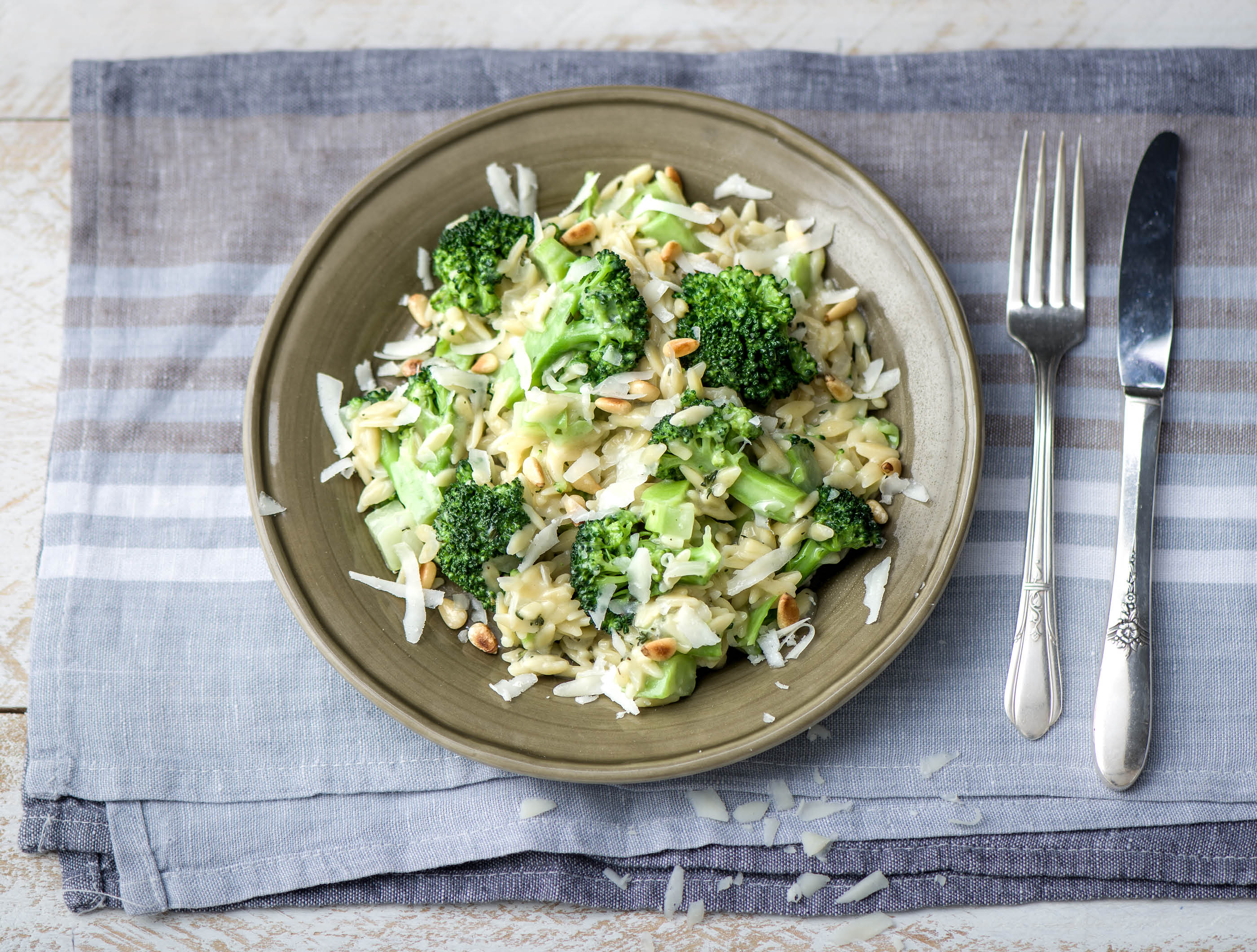 Orzo met broccoli