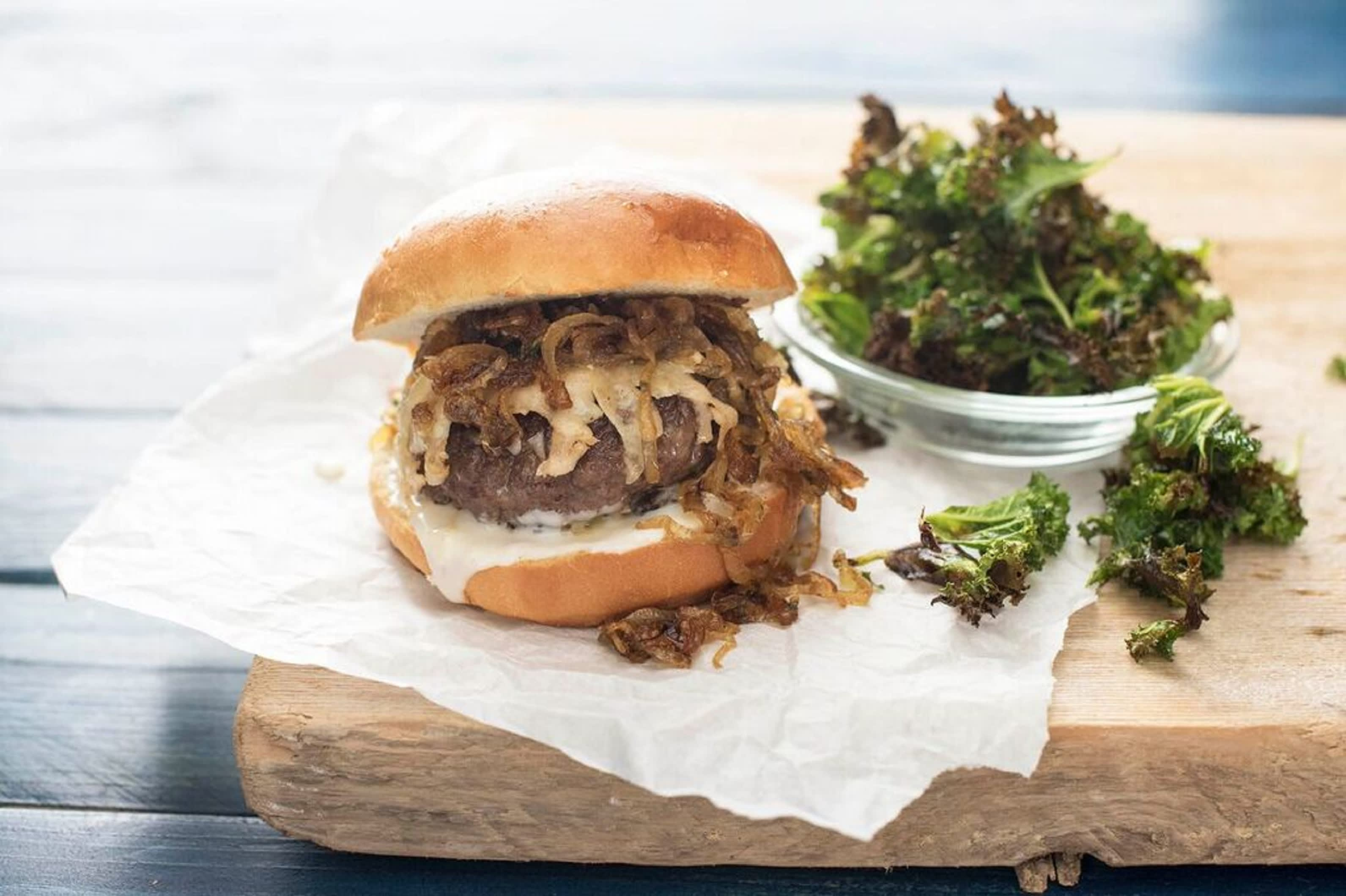 French Onion Soup Burger