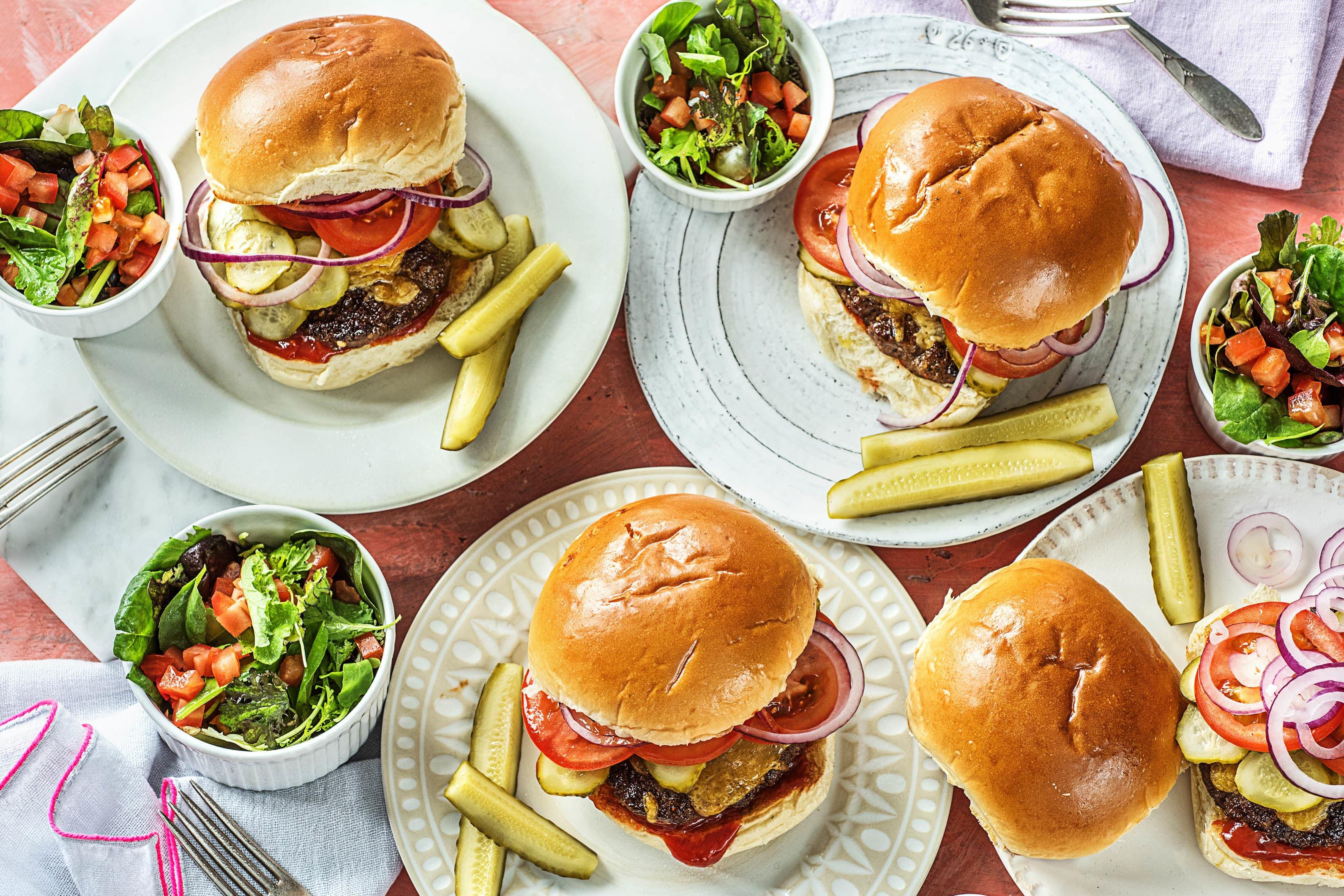 Cheddar Smash Burgers