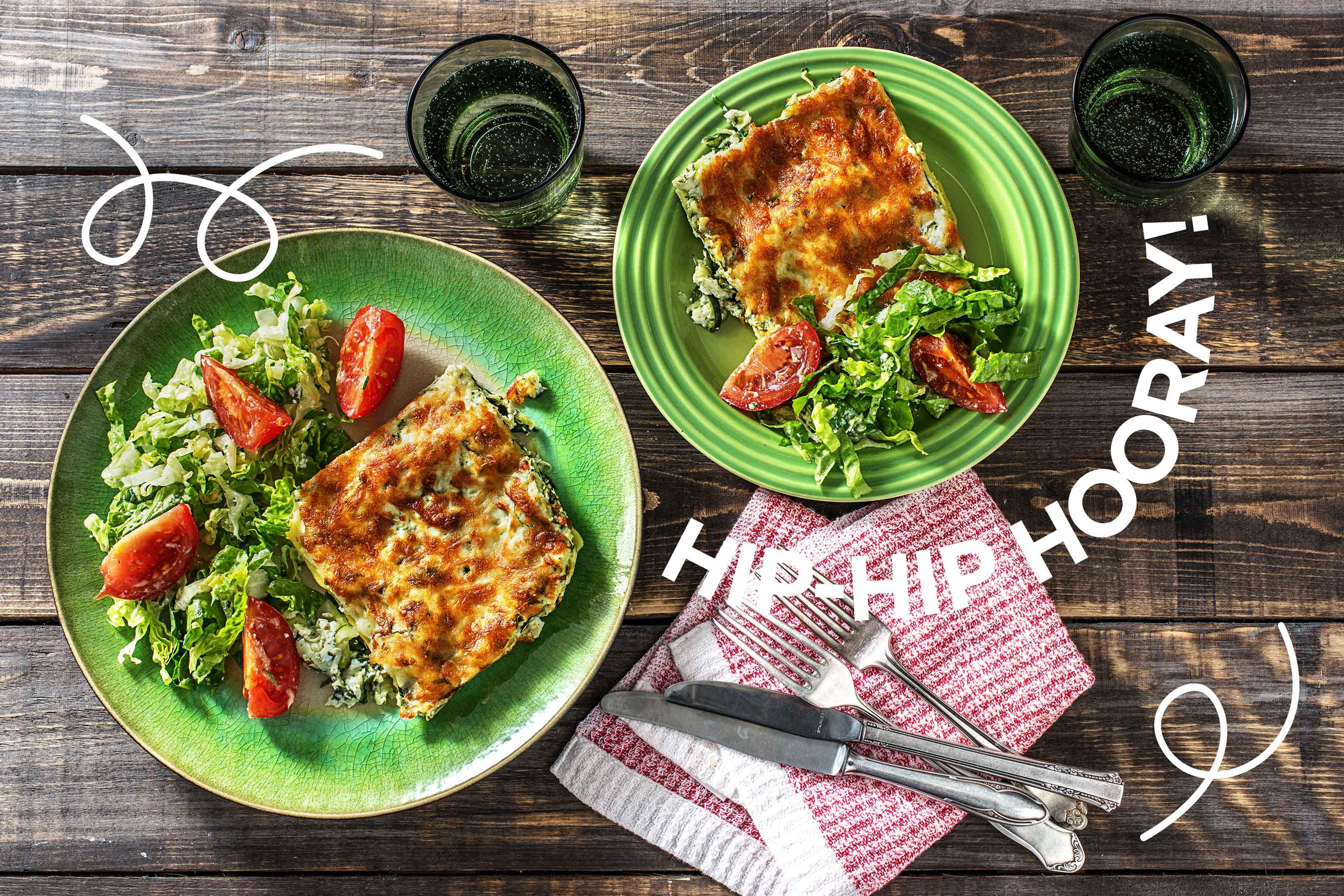 Blitzschnelle, einfache Ricotta-Lasagne