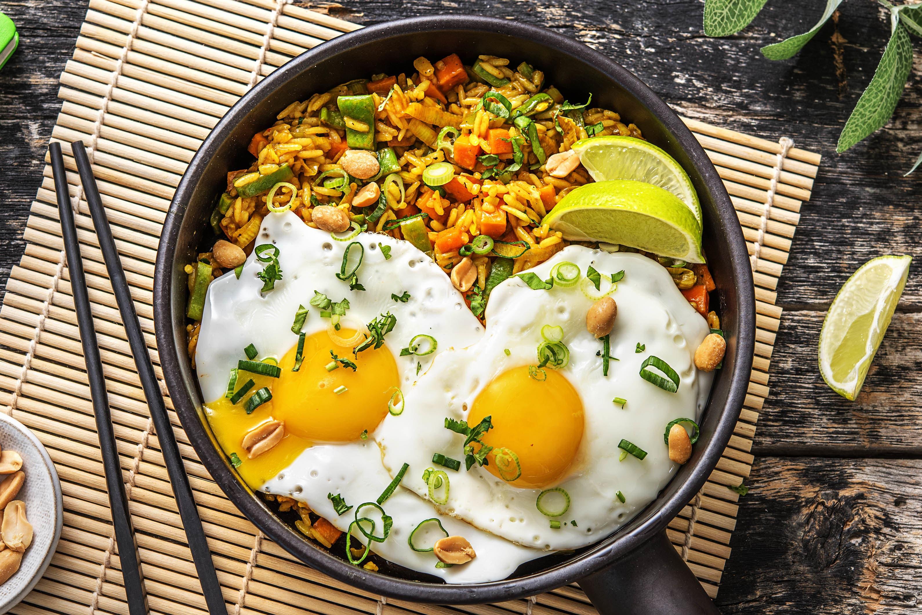 Nasi goreng et œuf au plat