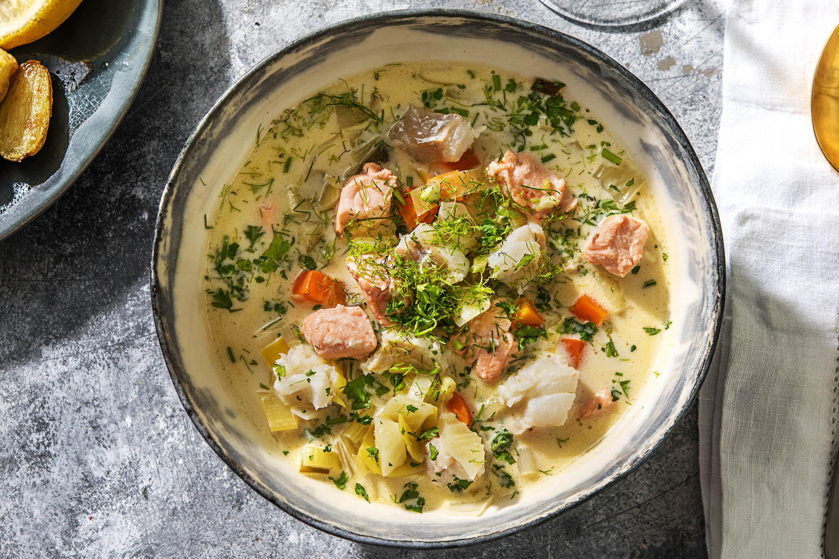 Cassolette de poisson de luxe au vin blanc