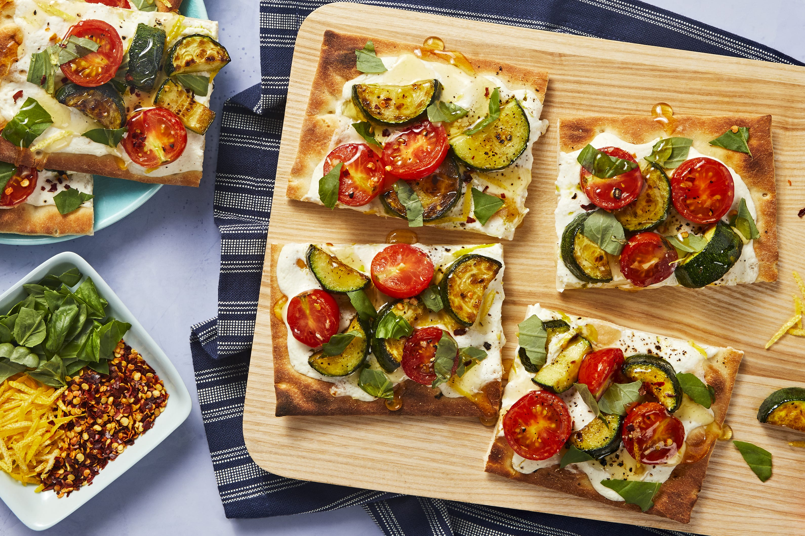 Zucchini and Tomato Flatbreads
