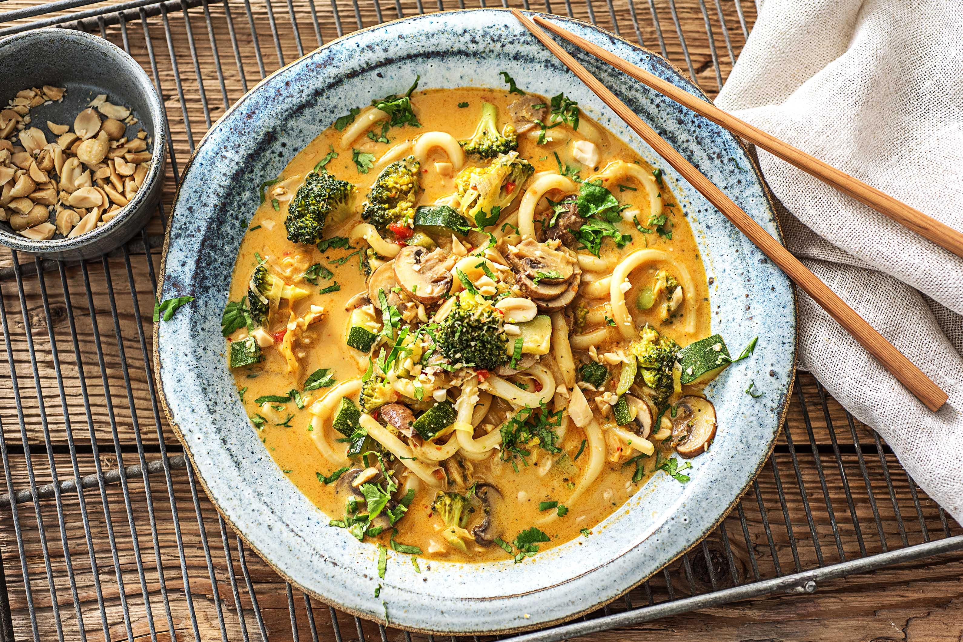 Indonesische curry-noedelsoep