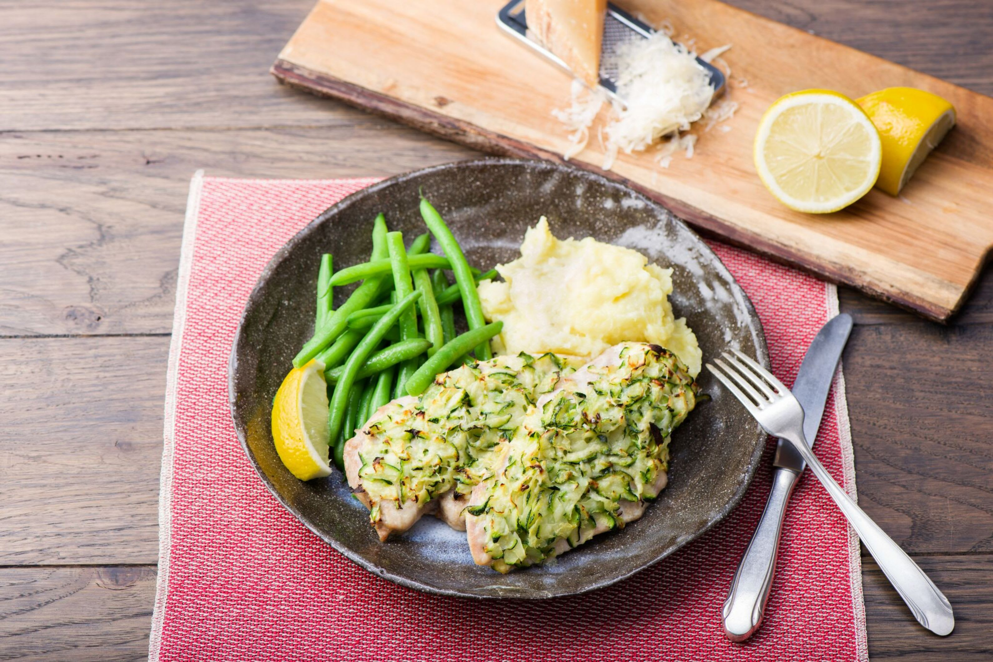 Zucchini-and-Parmesan-Crusted Chicken