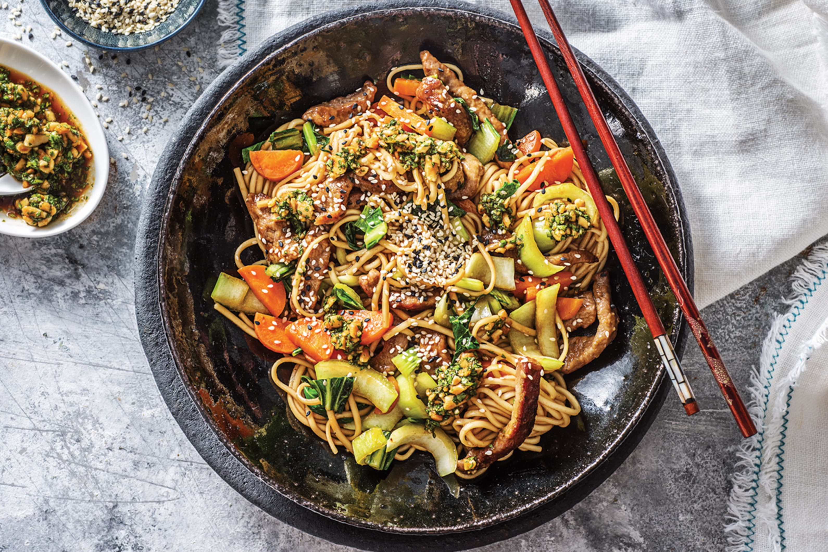 Beef & Bok Choy Noodles