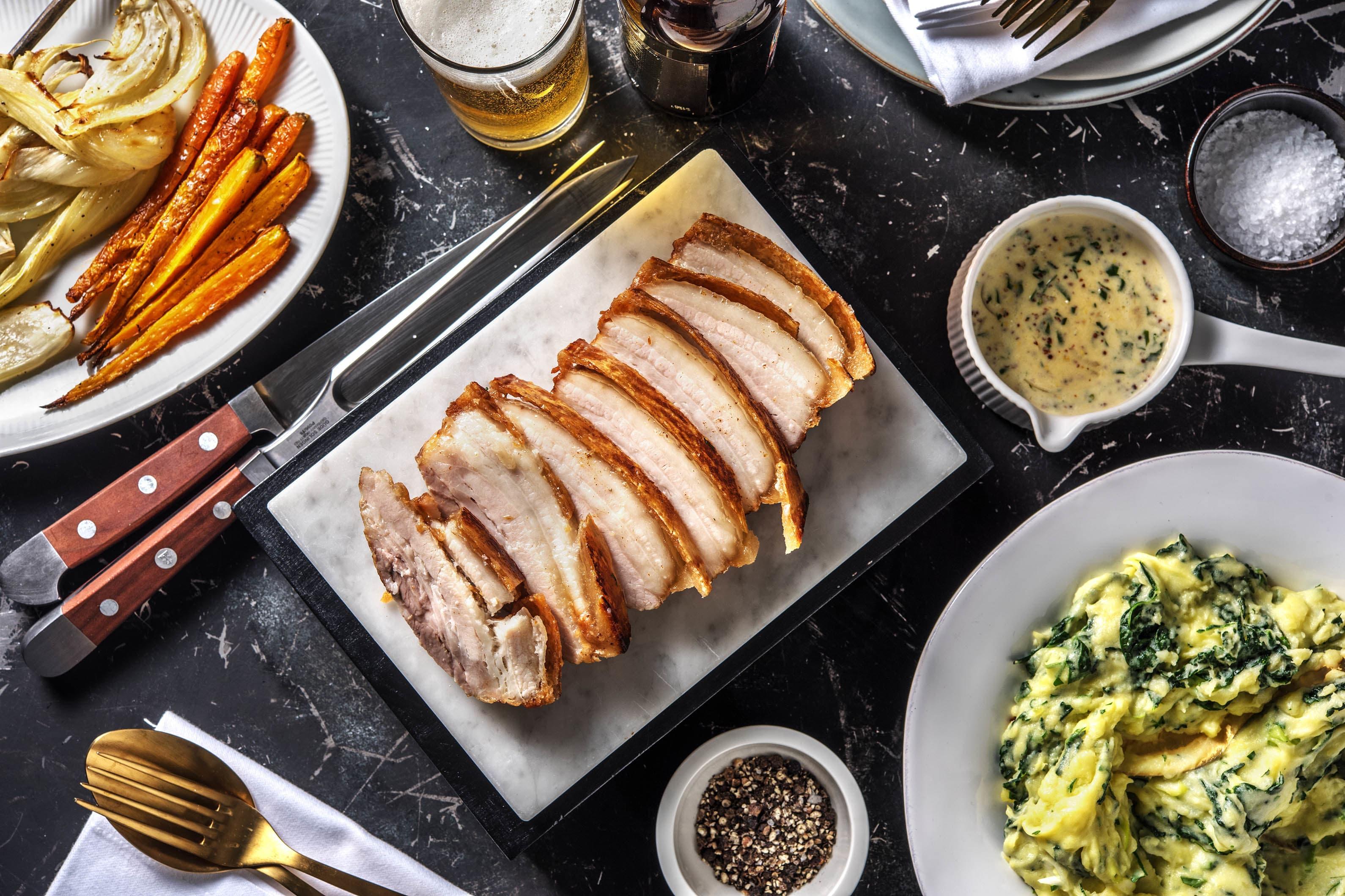 British Roast Pork Belly