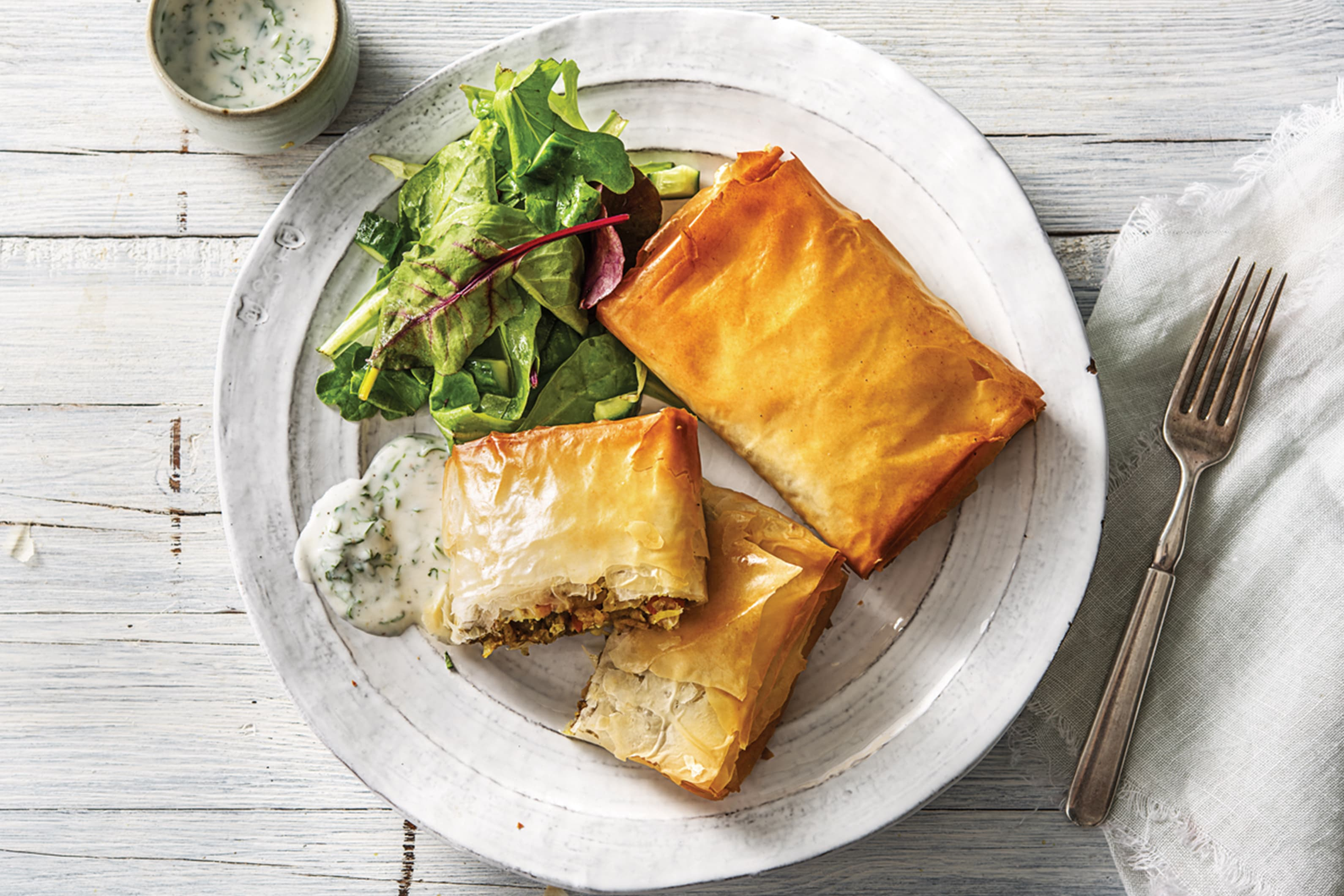 Cheat's Veggie Samosa Parcels