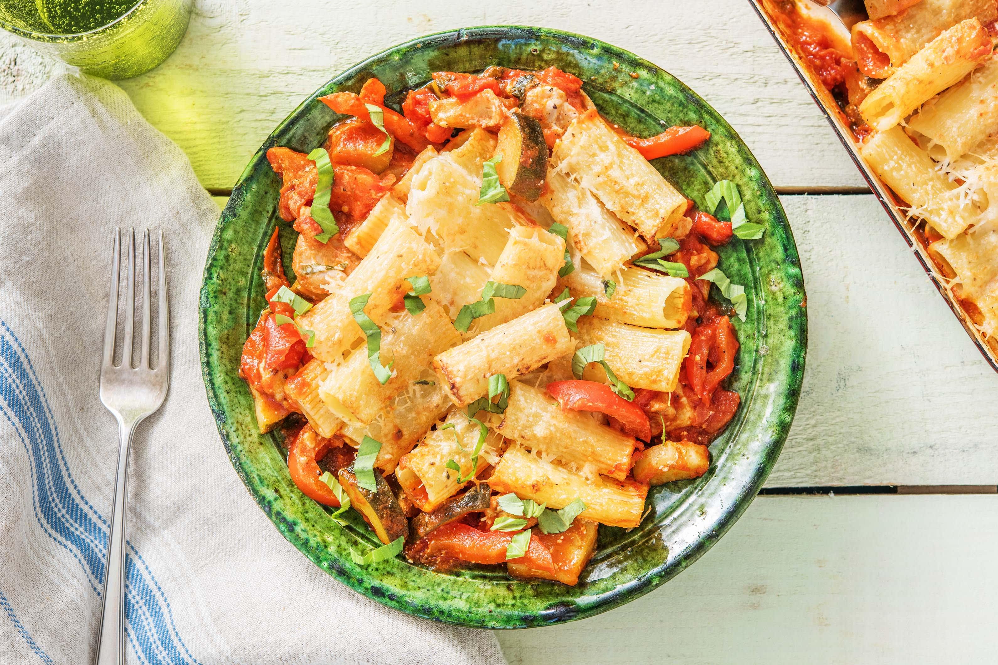Mediterranean Chicken Pasta Bake