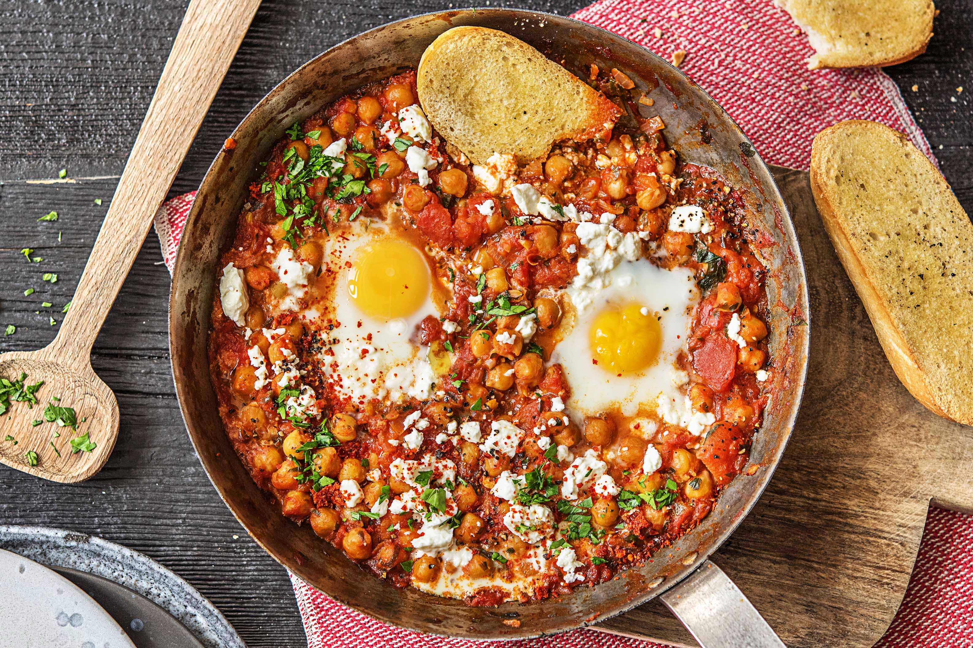 Cozy Chickpea and Egg Skillet