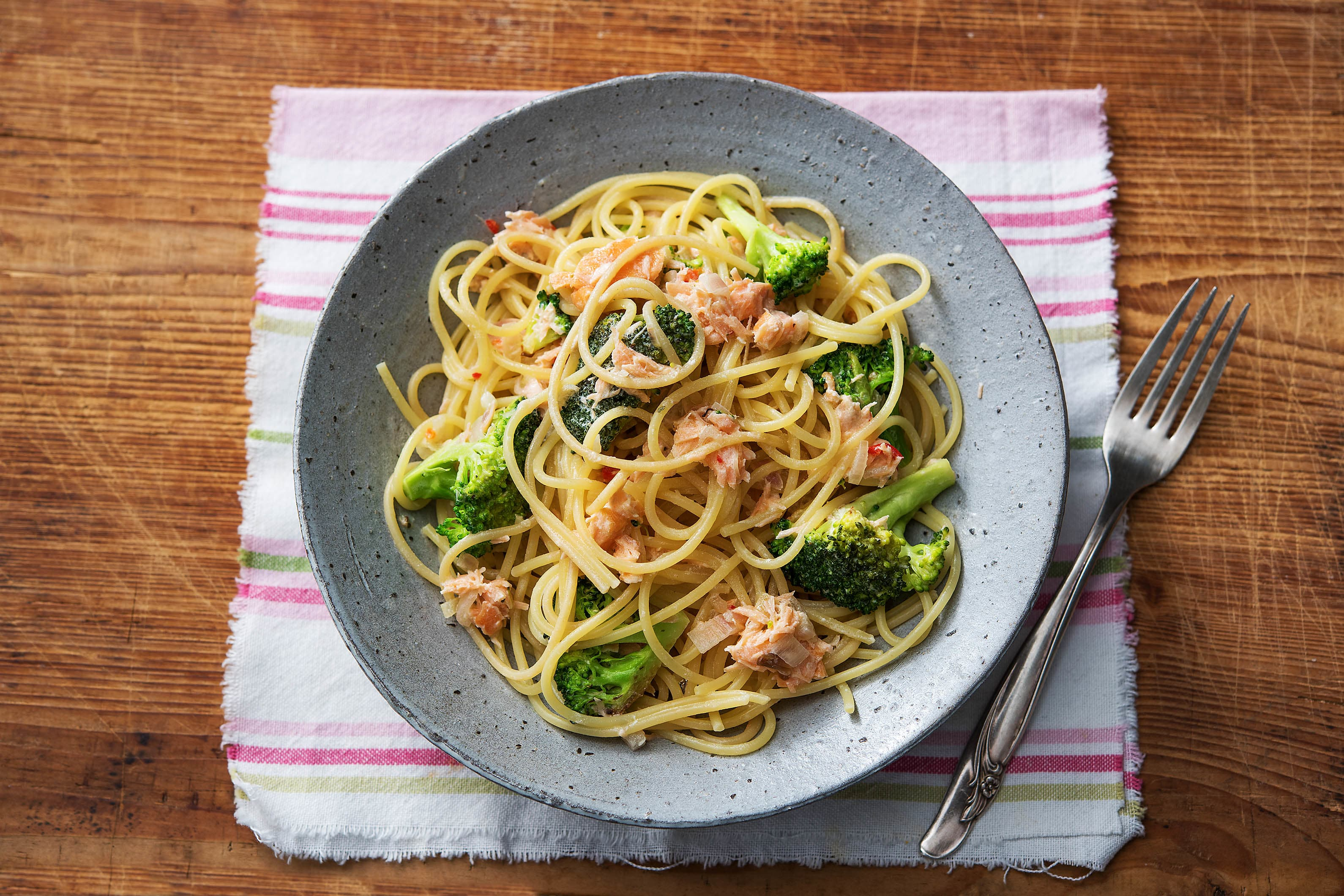 Spaghetti with Creamy Smoked Salmon