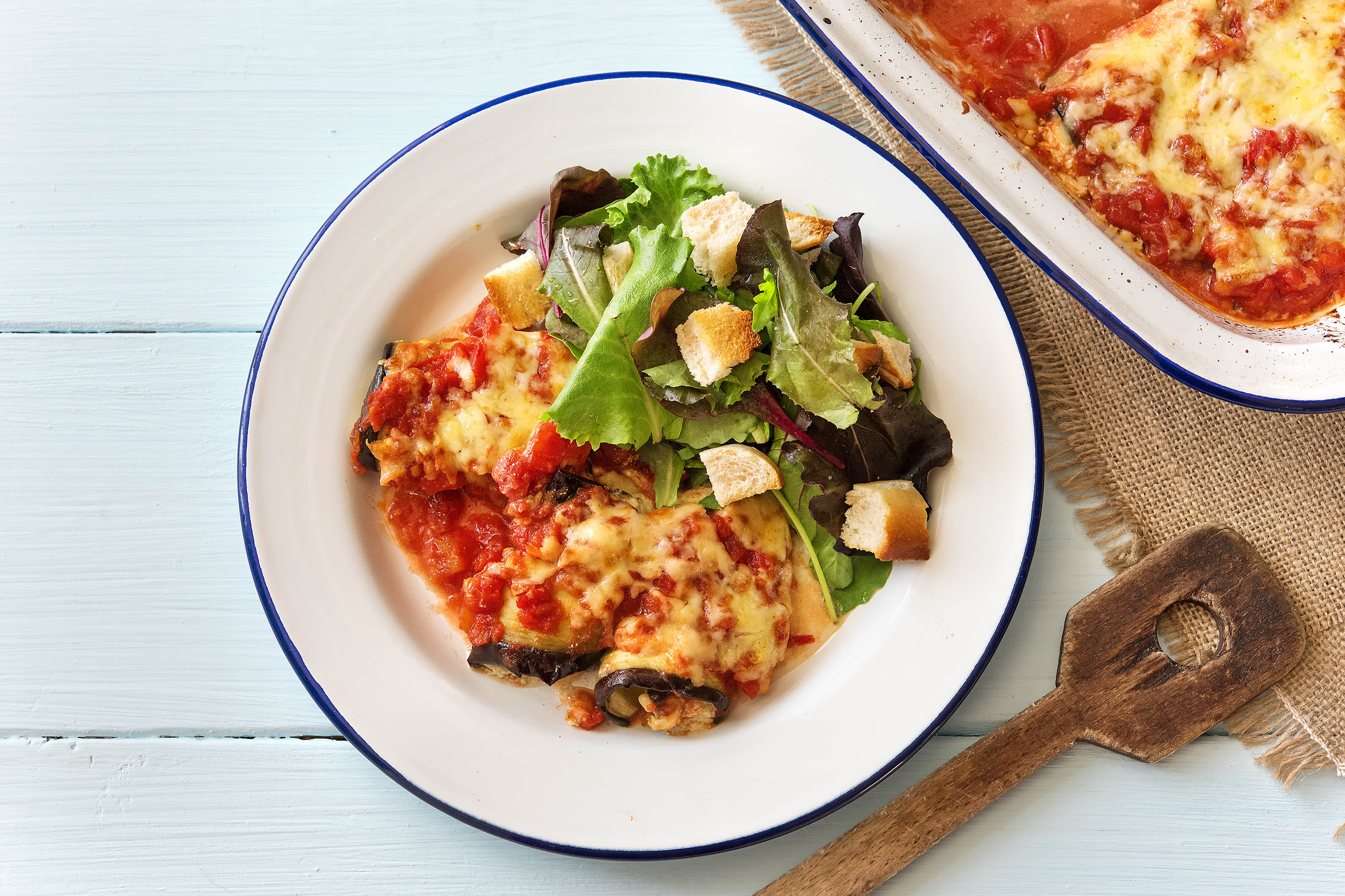 Eggplant & Mozzarella Roulades