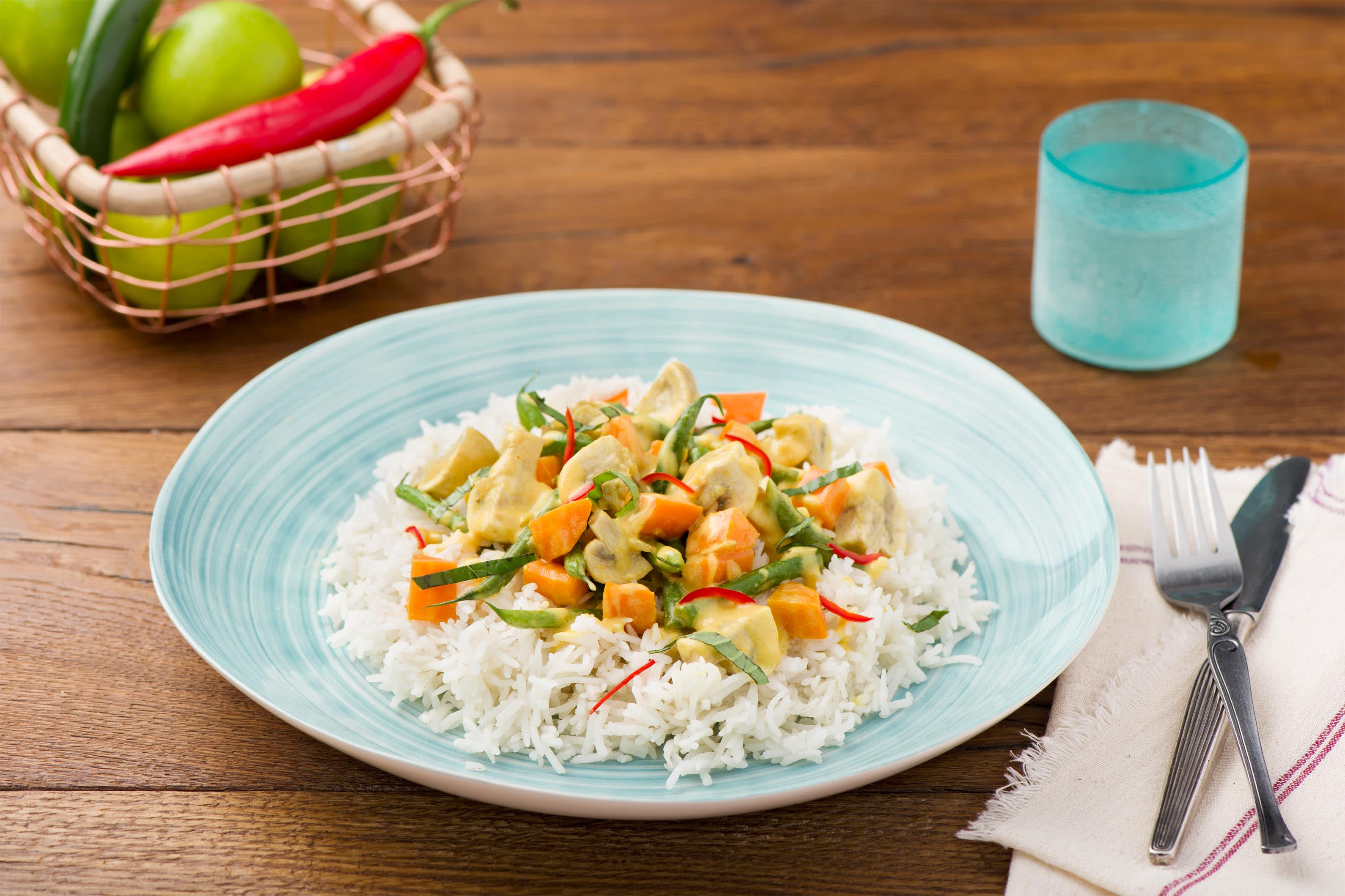Cremiges Thai-Gemüse-Curry