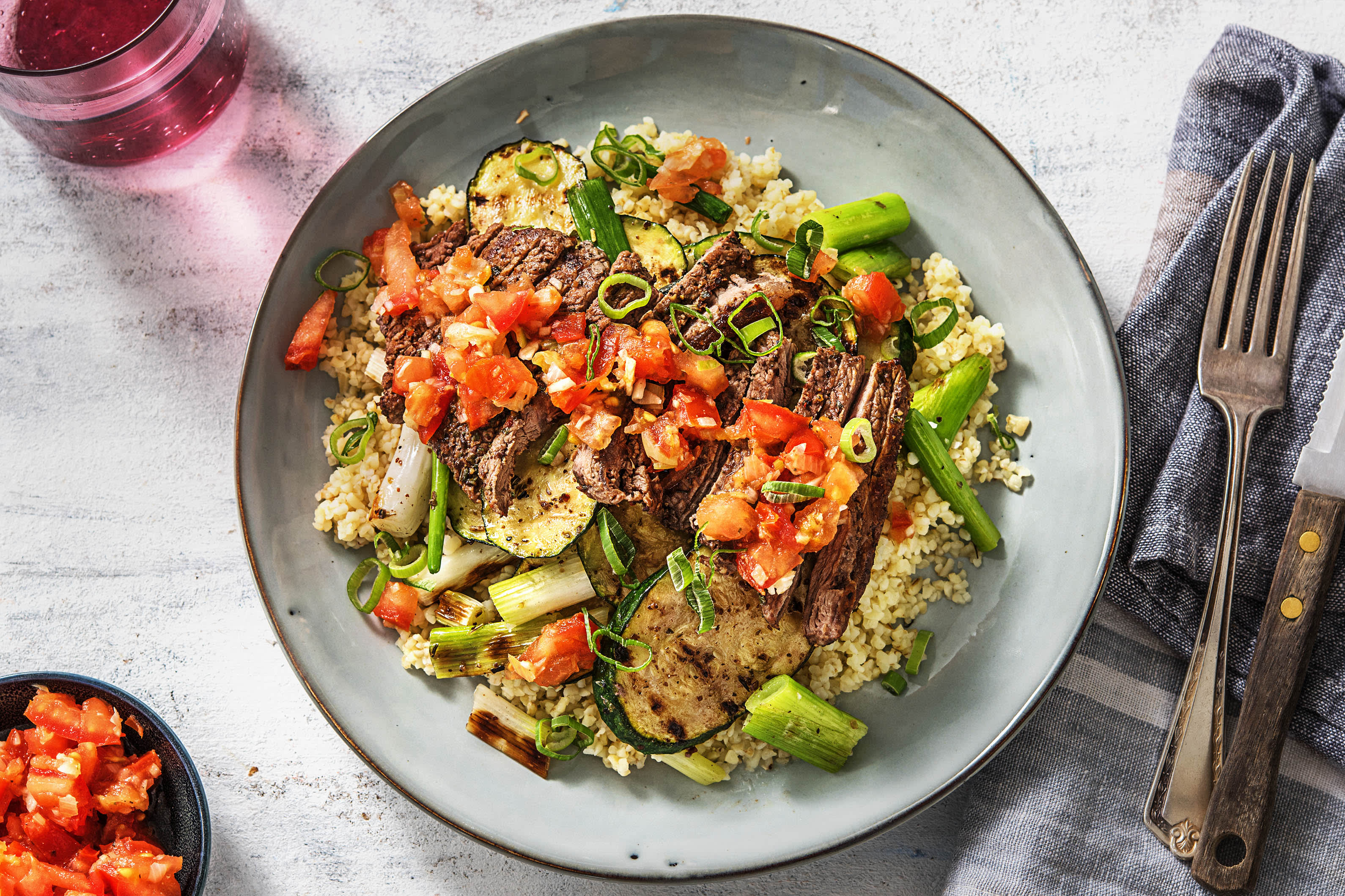 Grilled Mediterranean Steak