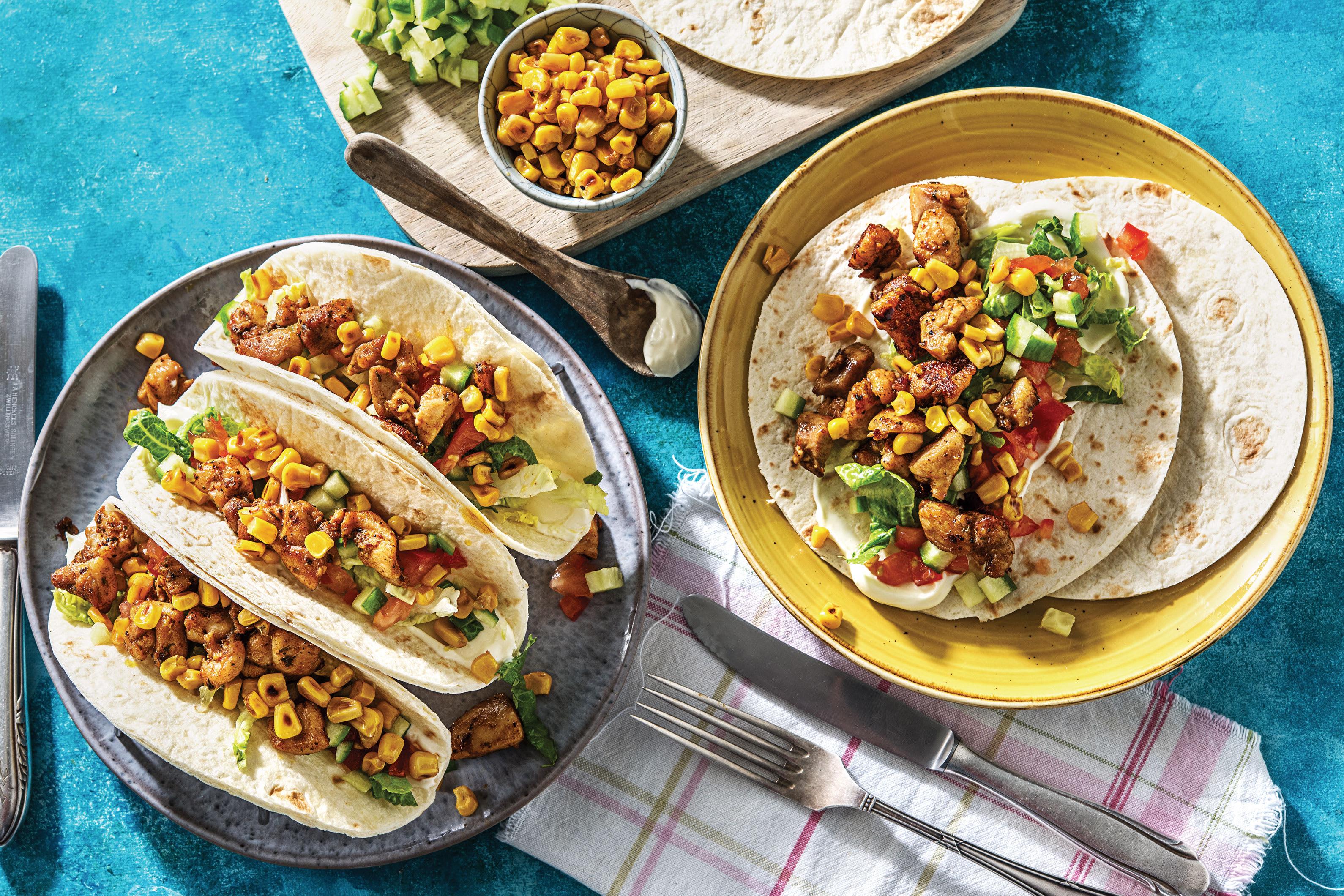 Jamaican Chicken Tacos